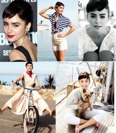 Lily Collins Audrey Hepburn style