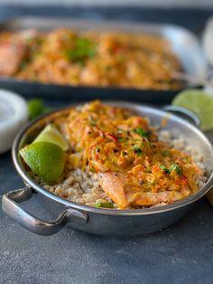 Lax i krämig purjolök och ajvar-röran » Curry, Food And Drink, Fish, Dinner, Ethnic Recipes, Zucchini, Mango, Cheesecake, Salta