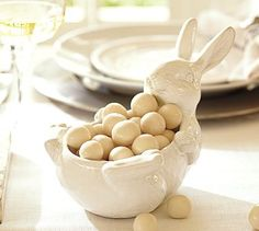 Our LINDOR Easter eggs would make a bright, fun, and delicious addition to this candy dish!
