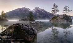 Romantic Hintersee Lake http://ift.tt/1HYgQZB BavariaBerchtesgadenGermanyHinterseeHintersee Lake