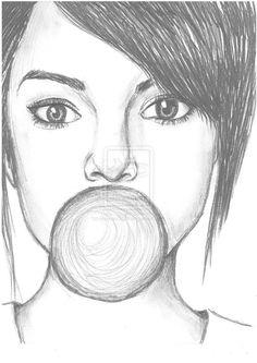 Картинки по запросу girl drawings tumblr easy