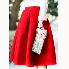 chicwish-jacquard-rose-pleated-midi-skirt-daniel-wellington-watch-red-reticule-collection-bangle 2