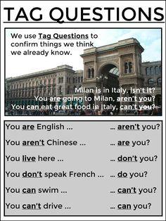 TAG QUESTIONS #EnglishVocabulary #EnglishGrammar @English4Matura