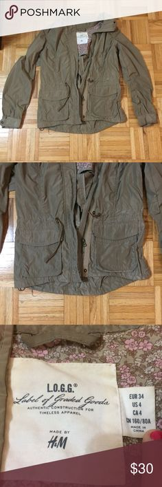 [H&M] Tan Jacket Perfect lightweight jacket in a tan color. Flawless condition! H&M Jackets & Coats