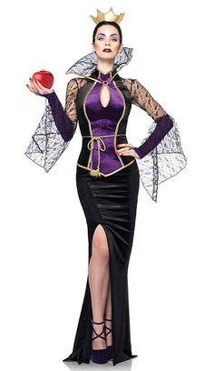 Details about  /Licensed Disney Villain Evil Queen Deluxe Fairy Tales Costume Adult Women 67475