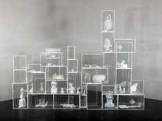 TERENCE KOH, Untitled, 2006 - 2011; Glass vitrines, mixed media