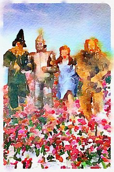 Wizard Of Oz Water Color Giclée Print. fun gift to hang in room.