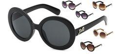 Giselle Oversize Women Fashion Circle Rounded Vintage Shades Eyewear Sunglasses  #Giselle #Round