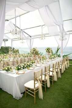 50 awesome balloon wedding ideas pinterest wedding centrepieces elegant all white wedding decoration with a touch of golden tiffany chair elegant wedding decor ideas junglespirit Image collections