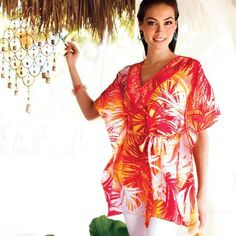 Summer must! We're obsessed with this Paradise Printed Tunic. It's a lightweight option for everyday with jeans, capris or leggings, plus it doubles as a stunning beach cover-up! Includes matching belt, too. At just $24.99 it's a fashion find. What would you wear it with? To order Go to http://www.avon.ca/ register and put Brigitte Giunta has your Avon Representative. If you want to become an Avon Representative please email me at b_giunta@hotmail.com