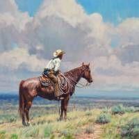 """West Texas Cow Hunter"" ~ Martin Grelle"
