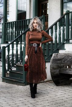 d993b94cd63e monochrome brown evening look with satin and suede Everyday Casual Outfits