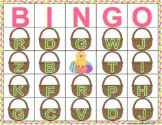 Practice letter sounds and identification with this fun Easter letter bingo game! Use Jelly beans as markers and save extra for snacking! Easter bingo, letter bingo, Spring party bingo, Spring bingo, Spring letter practice, letter sound correspondence, letter ID, letter sounds, bingo, literacy games, Springs games, Easter literacy centers, Easter phonics, alphabet games, letter games.