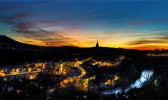 The City view from the Garten of Roses to Bern. The sunset was really beautiful. @ www.lightsandbytes.com #beatdietsch Bern, Beautiful Sunset, Bring It On, Roses, Night, City, Pictures, Photography, Outdoor