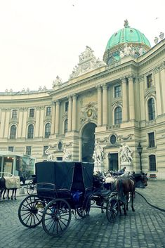 Hofburg Palace--Vienna, Austria - Actually the horses' stables and show arena. Magnificent!