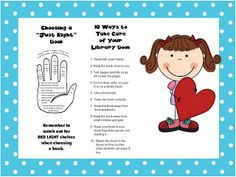 The Book Bug: Book Care Bookmarks Library Lesson Plans, Library Skills, Library Lessons, Library Books, Library Ideas, Elementary School Library, Elementary Schools, Book Care Lessons, Teacher Librarian