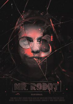 I was commissioned by a fan to make a Mr Robot poster Mr Robot Poster, Poster On, Robot Tv, Cool Posters, Movie Posters, Horror Masks, Unique Poster, Black Mirror, Cool Names
