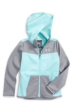 Under Armour 'Storm ColdGear® Infrared' Water & Wind Resistant Hooded Jacket (Big Girls)