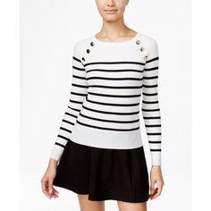 76d7d7f8dd3 Xoxo Juniors  Embellished Striped Sweater ( 49) ❤ liked on Polyvore  featuring tops