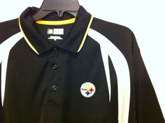 MENS SIZE X LARGE NFL TEAM APPAREL PITTSBURGH STEELERS 3 BUTTON POLO SHIRT Nfl Team Apparel, Pittsburgh Steelers, Nike Jacket, Polo Shirt, Athletic, Button, Jackets, Shirts, Men