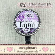 RN Nurse BADGE Reel Nurse Thank You Gift ID by ScrapheartGifts