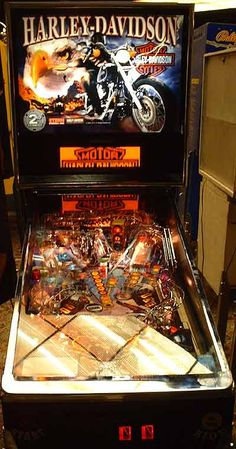Oh this is cool! I want this!Harley-Davidson Pinball