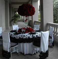 Anniversary table scape