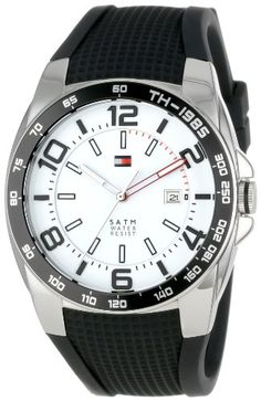 Tommy Hilfiger Men's 1790884  Sport Stainless Steel Bezel Black Silicon Strap Watch - http://www.specialdaysgift.com/tommy-hilfiger-mens-1790884-sport-stainless-steel-bezel-black-silicon-strap-watch/