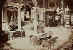 Warszawa na zdjęciach Maksymiliana Fajansa   Cukiernia Lourse'a w Hotelu Europejskim (1872 rok).