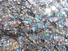 Iridescent star glitter.
