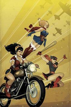 """DC Comics Bombshells #1"" cover"