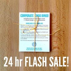 Corporate Lingo Bingo is on sale for the next 24 hours! Buy 2 get 1 FREE  Perfect gift for your fav fellow office betch  the boss who buys everyone shots at happy hour  your intrepid team of interns!  Learn new buzzwords roll your eyes at the ones you love to hate and make meetings more fun! #saradoes #flashsale #corporatelingo #businessbuzzwords