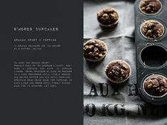smore cupcake + recipe, lovely graphics