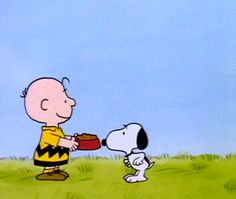 'Dinner time!', Snoopy does the Happy Dance for Charlie Brown, gif ❤️❤️