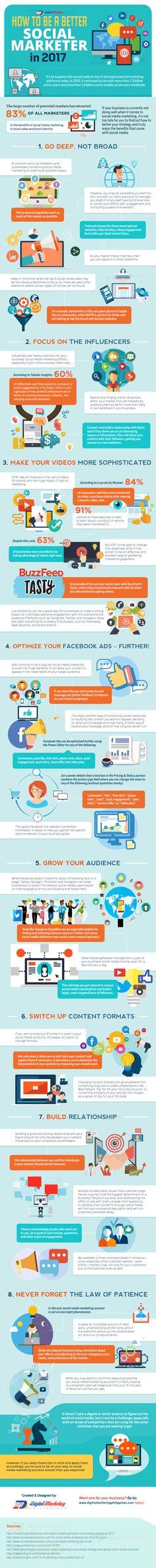 """Infographie: comment devenir un meilleur """"Social Marketer""""?"""