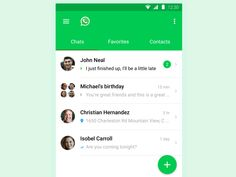 Signa Android UI Design Community — A WhatsApp design concept by Mohamed Kerroudj