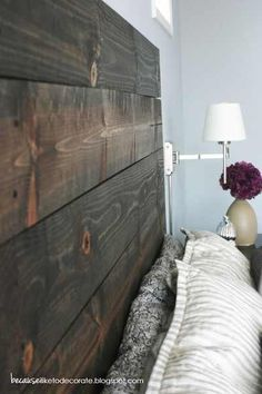 cute idea for headboard...