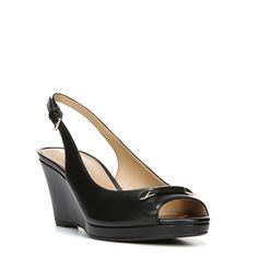 Naturalizer Women's Oleander Medium/Wide/X-Wide Wedge Shoes (Black Leather)