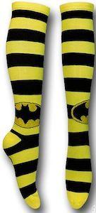 Batman Striped Logo Knee High Socks