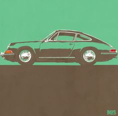 Mark Sanders Porsche 911-1963 - Typ 9... Edition auf Metall (Dibond) ab 25 x 25 cm ab  49,00 € http://www.artfan.de/sanders-mark-porsche-911-pop-art-automobile-kunst-online-kaufen.html