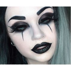 Gothic Eye Makeup ❤ liked on Polyvore featuring beauty products, makeup and eye makeup