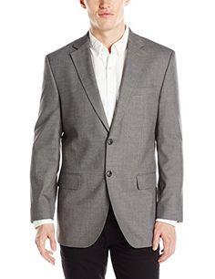 dc2cc892275 Haggar Men s J.M. Premium Performance Stretch Stria 2-Button Suit Separate  Coat