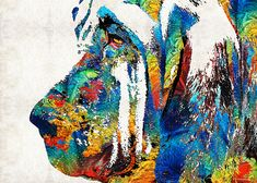 http://fineartamerica.com/featured/colorful-bloodhound-dog-art-by-sharon-cummings-sharon-cummings.html