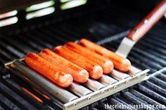 Outdoor BBQ using Cost Plus World Market's Hot Dog Roller >> #WorldMarket Entertaining & Decor, # amping ideas, Tips, #Glamping, Outdoor #Entertaining,