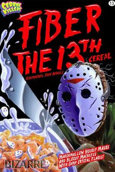 Fiber The 13th Cereal: Marshmallow Hockey Masks And Bloody Machetes With Camp Crystal Flakes