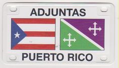 "PUERTO RICO ""ADJUNTAS"" MINI LICENSE PLATE MAGNET"
