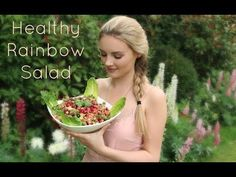 Healthy Rainbow Salad | Niomi Smart - YouTube Ingredients: Kale Quinoa Chickpeas Lentils Half Bell Pepper Handful of Cherry Tomatoes Cucumber Chunks Avocado Lemon Pomegranate Coriander Beetroot Baby Gem Lettuce Chili