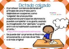 tipos de dictado (7) Social Studies Activities, Class Activities, Writing Activities, Elementary Spanish, Spanish Classroom, Teacher Tools, Teacher Resources, Class Games, School Worksheets