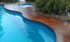 stained concrete around pool - Google Search