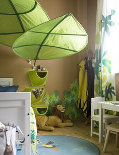 Jungle Nursery: Setup with a difference- Dschungel Kinderzimmer: Einrichtung mal anders IKEA Germany Deco Jungle, Jungle Room, Jungle Nursery, Nursery Room, Childrens Jungle Bedrooms, Baby Bedroom, Kids Bedroom, Dinosaur Bedroom, Kids Room Furniture